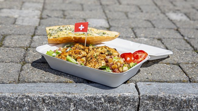 US-MEX Take Away Salat Zuckerrohr Box